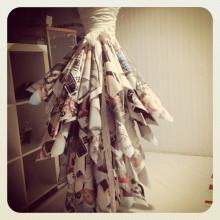 Sofia Londero gorgeous paper skirt