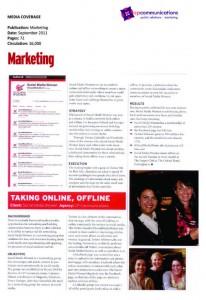 Marketing Magazine September 2011