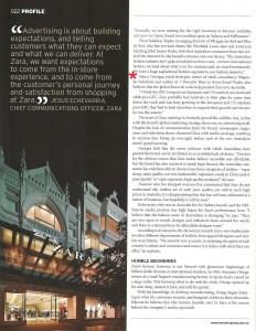 Marketing magazine Zara article