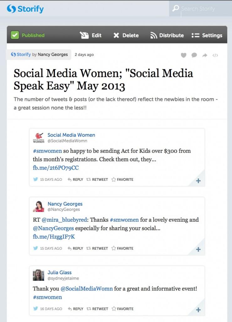 Social Media Women Storify Recap May 2013
