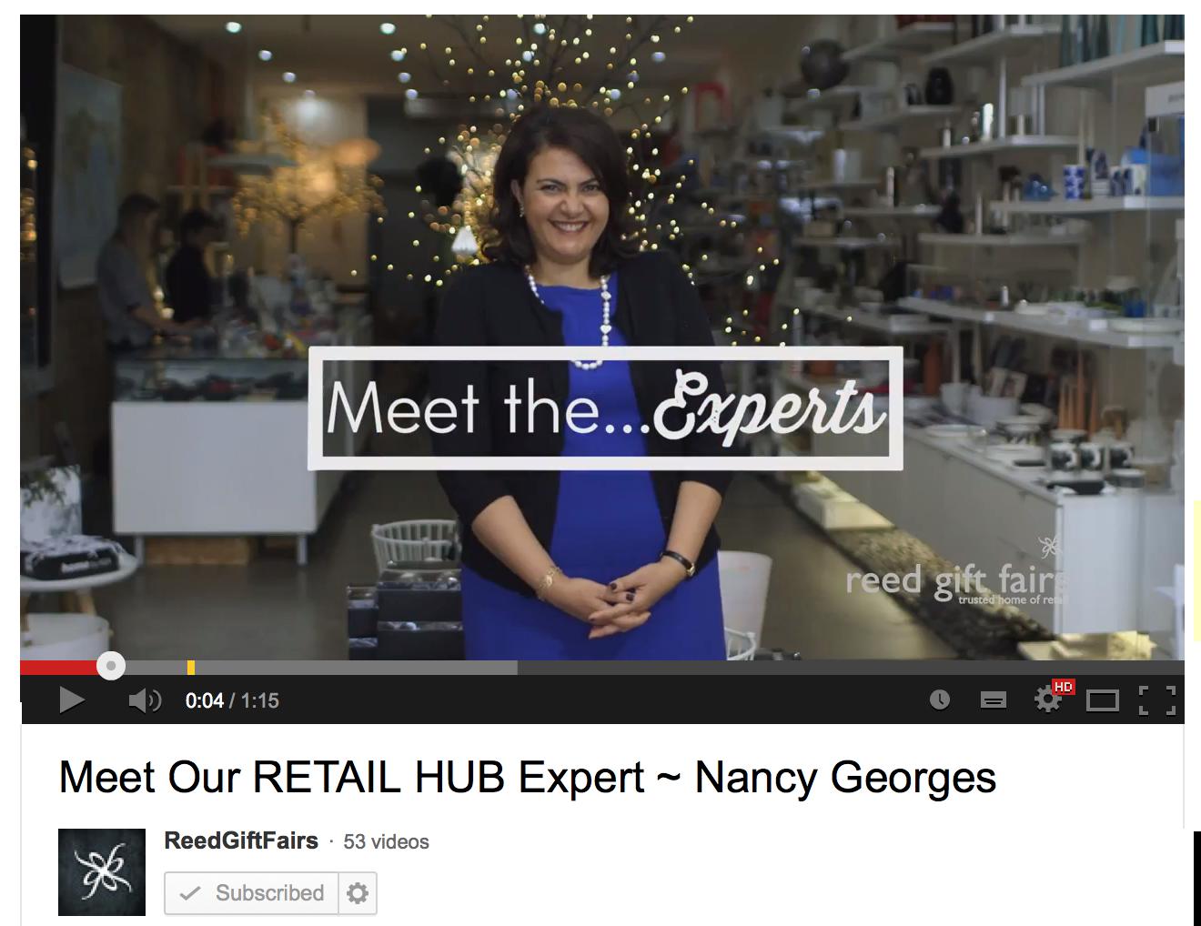 Nancy Georges at Reed Gift Fairs Retail Hub