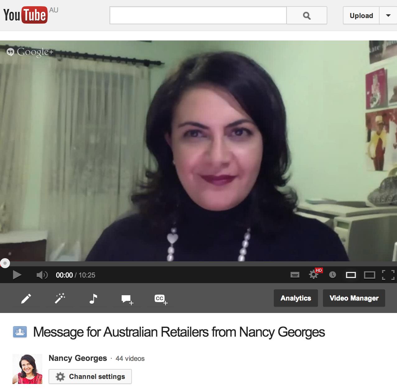 Nancy Georges Message to Australian Retailers