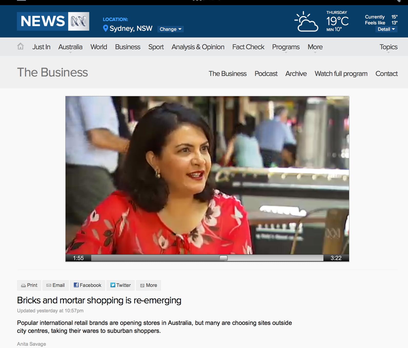 Nancy Georges on ABC News 24